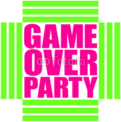 Game Over Party Neon