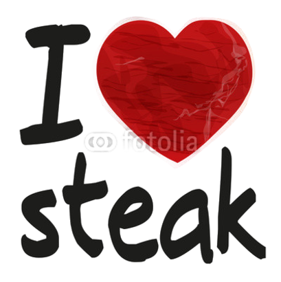 I love steak